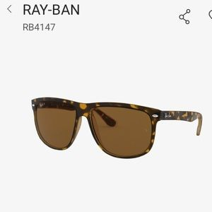 Ray Ban RB4147 Tortoise Over-sized Sunglasses
